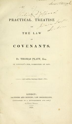 A practical treatise on the law of covenants