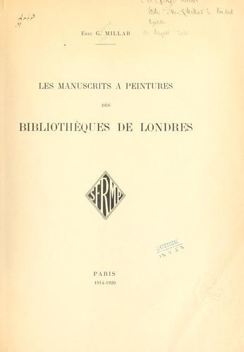 Download Les manuscrits à peintures des bibliothèques de Londres.