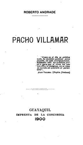 Pacho Villamar …