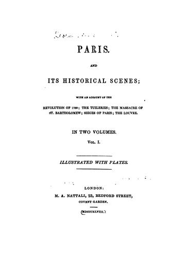 Paris, and its historical scenes …