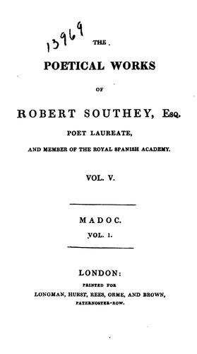 Download The Poetical Works of Robert Southey, Esq. …