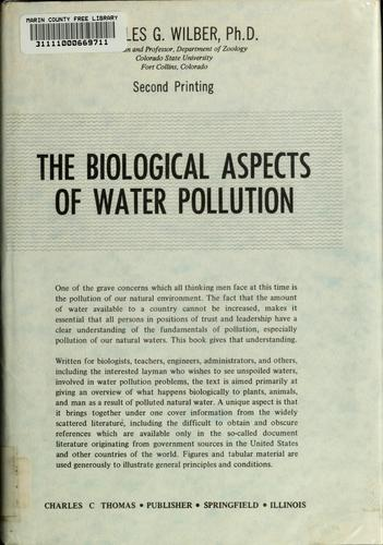 Download The biological aspects of water pollution