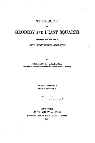Text-book on geodesy and least squares