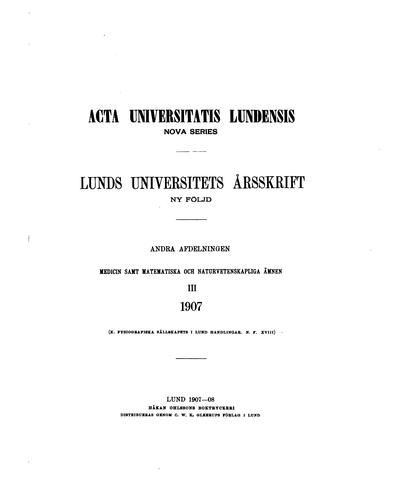 Lunds universitets årsskrift