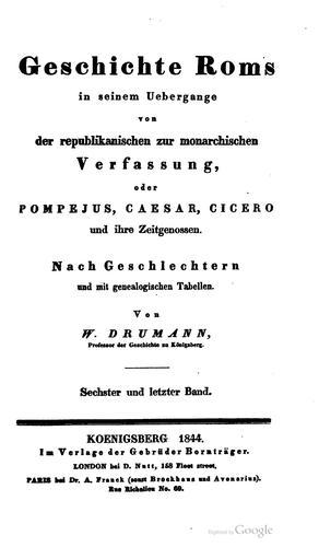 Download Geschichte Roms in seinem Uebergange von der republikanischen zur monarchischen Verfassung 6