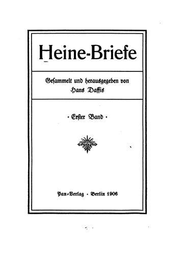 Heine-briefe
