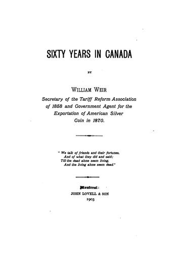 Download Sixty years in Canada