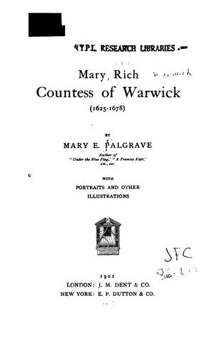 Download Mary Rich, countess of Warwick (1625-1678)