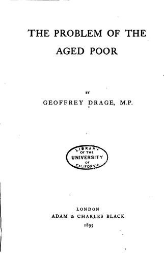 Download The problem of the aged poor
