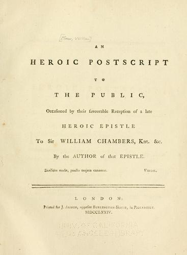 Download An heroic postscript to the public
