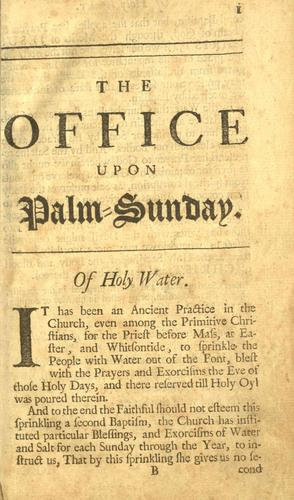 Download The compleat office of the Holy Week