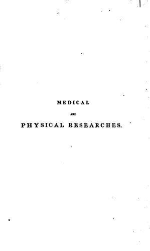 Download Medical and physical researches