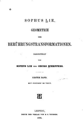 Download Geometrie der berührungstransformationen.