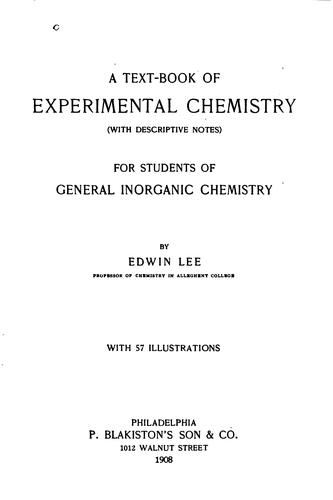 A text-book of experimental chemistry