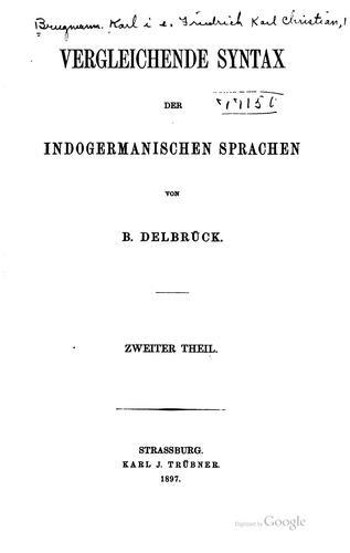 Download Grundriss der vergleichenden Grammatik der indogermanischen Sprachen