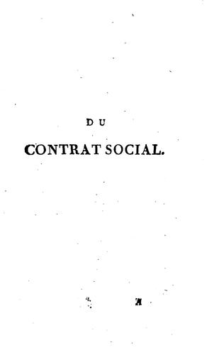 Download Du contrat social, ou, Principes du droit politique