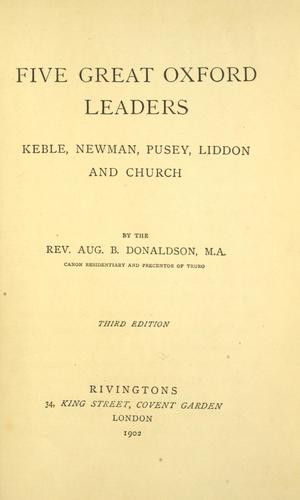 Download Five great Oxford leaders