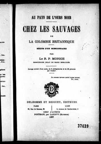 Download Chez les sauvages de la Colombie Britannique