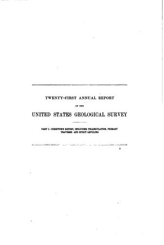 Annual Report of the United States Geological Survey to the Secretary of the …
