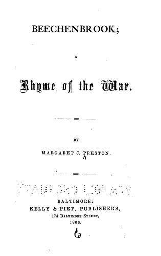 Beechenbrook: a rhyme of the war