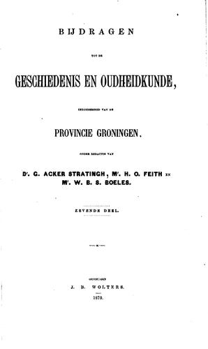Bijdragen tot de geschiedenis en oudheidkunde