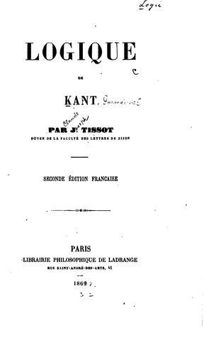 Logique de Kant