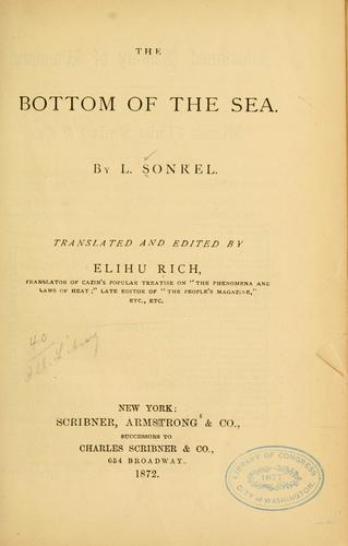 The bottom of the sea
