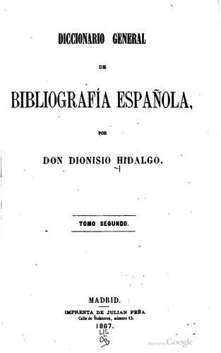 Diccionario general de bibliografía española