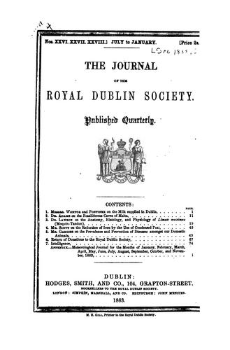 The Journal of the Royal Dublin Society