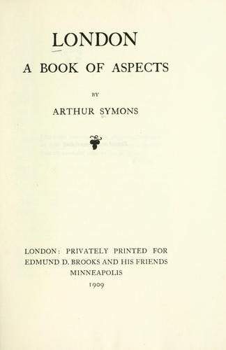 London; a book of aspects.