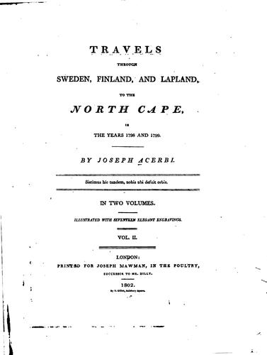 Download Travels through Sweden, Finland, and Lapland, to the North Cape, in the years 1798 and 1799