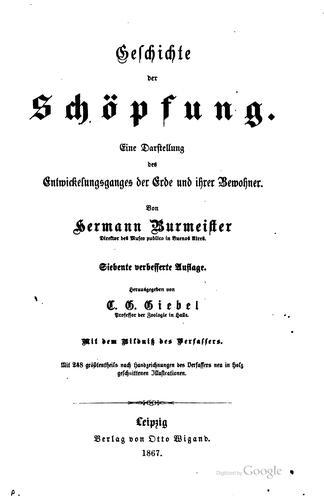 Geschichte der schöpfung.