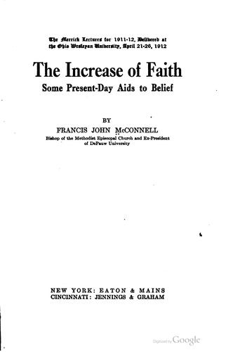 The increase of faith