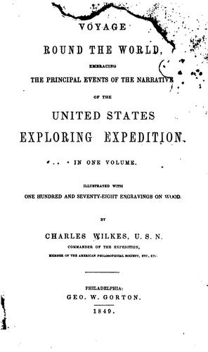 Voyage round the world by Charles Wilkes