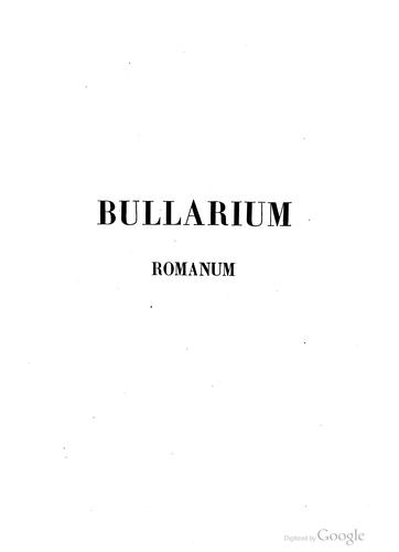 Bullarum by Catholic Church. Pope.
