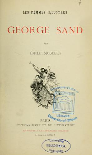 Georges Sand by Emile Moselly